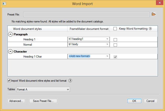 Word Import